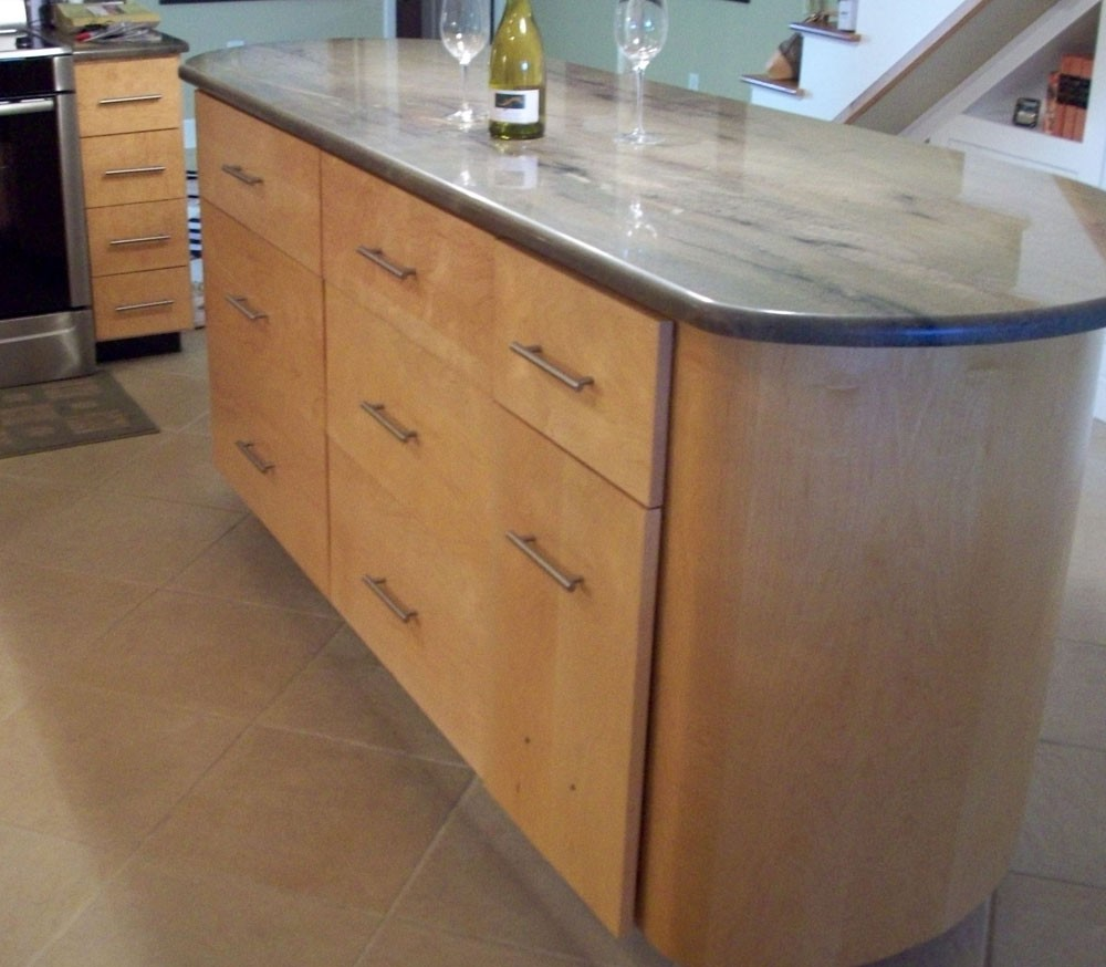 Kitchen island with unique shape