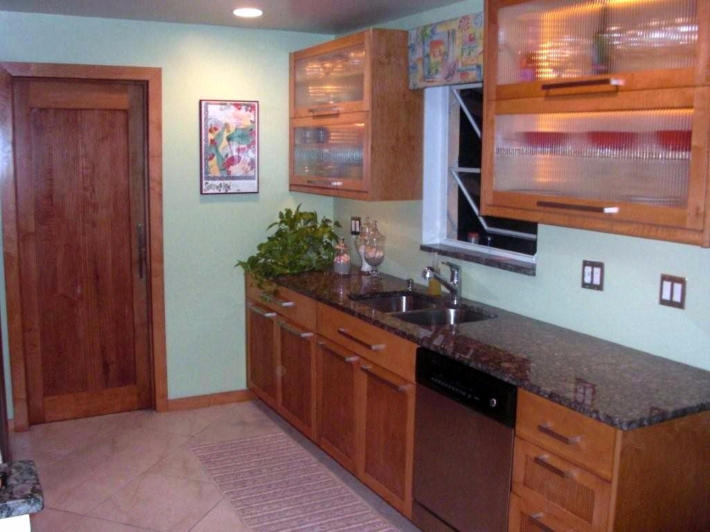 Kitchen with matching laundry room door