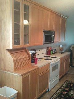 Kitchen with custom bread box