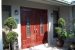 Mahogany front doors with custom glass