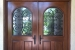 Mahogany Front Doors with metalwork