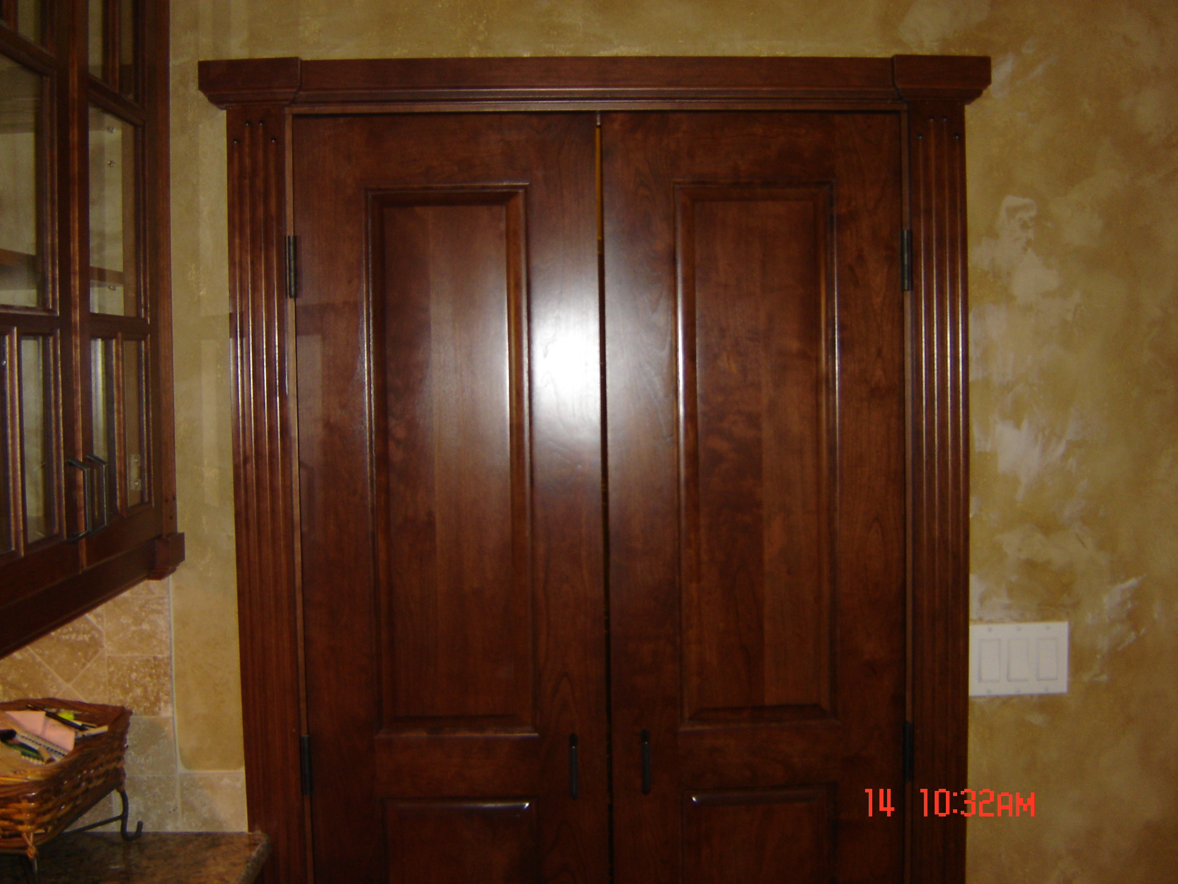 Doors custom woodwork cabinetry by michael bugenske cherry interior doors built to match cabinetry eventelaan Gallery