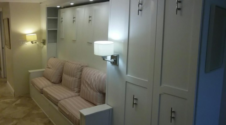 Murphy bed with attached closet