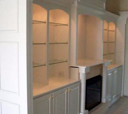White living room wall unit